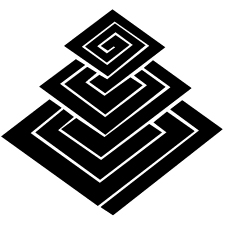 三階稲妻菱紋