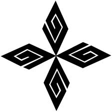 四つ寄せ稲妻菱紋