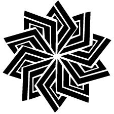 捻じ稲妻菱紋
