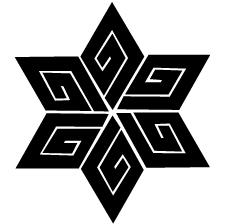 麻形稲妻紋
