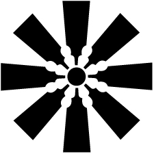 八つ羽子板車紋