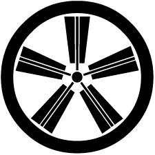 丸に五本扇車紋