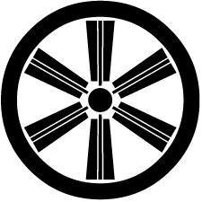 丸に六本扇車紋