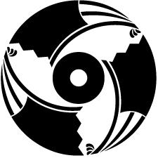 三つ雁木扇蛇の目紋
