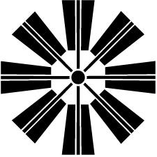 八本扇車紋