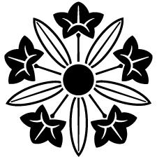 葉陰の竜胆車紋