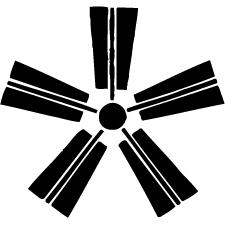 五本扇車紋