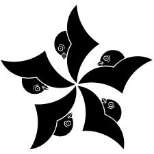 五つ雁金車紋2