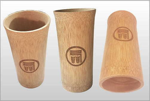 ビアグラス(竹)色々な角度の写真