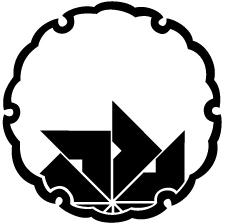 雪輪に覗き四つ目車紋