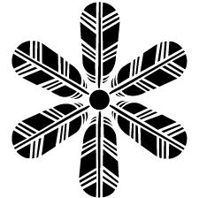 六つ鷹の羽車紋
