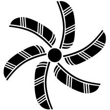 割り六つ鷹の羽車紋