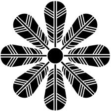 八つ鷹の羽車紋