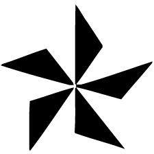 五つ鱗車紋