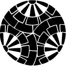三つ割り重ね源氏車紋