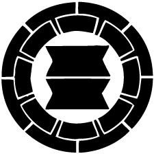 源氏輪に二つ切り竹紋