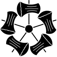 五つ鉞車紋