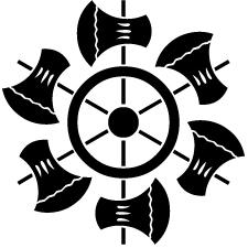 六つ鉞車紋