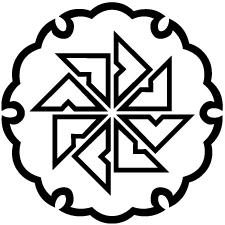 雪輪に陰四つ目車紋