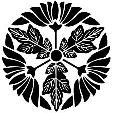 葉付き菊車紋