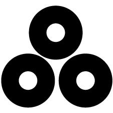 三つ盛り蛇の目紋