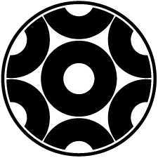 糸輪に蛇の目崩し紋