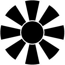 八つ日足車紋