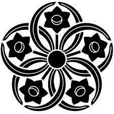 五つ水仙車紋