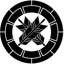 源氏輪に違い矢紋