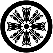 丸に八つ矢車紋