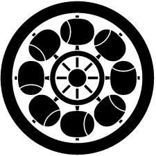 丸に八つ槌車紋