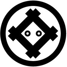 丸に隅立て井筒に二つ丸紋