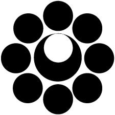 八つ星に月紋