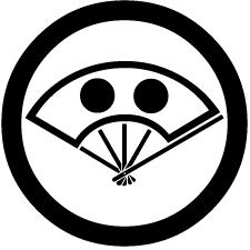 丸に日月の丸陰扇紋
