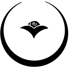 月輪に豆雁金紋