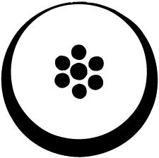 月輪に豆七曜紋
