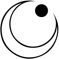 右向き陰日向月に星紋