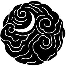 雲丸に地抜き月紋