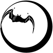 月に蝙蝠紋