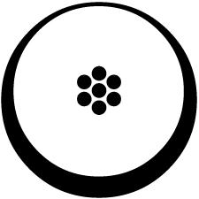 月輪に豆七曜紋2