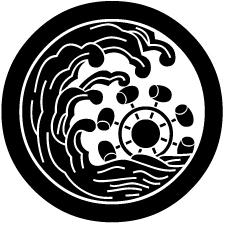 丸に浪に槌車紋