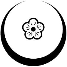 月輪に陰豆夕顔紋