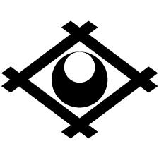 井桁に真向き月紋