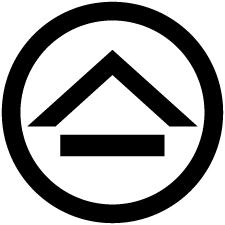 丸に山形に一つ引き紋