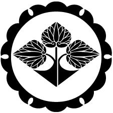 外雪輪に立ち葵菱紋
