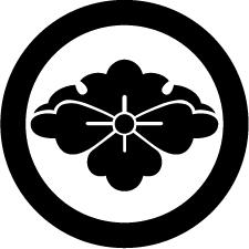 丸に雪持ち花菱紋