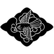 雪菱に雀紋