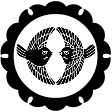 外雪輪に対雀紋