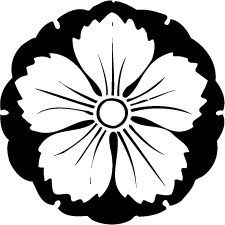 雪持ち地抜き撫子紋