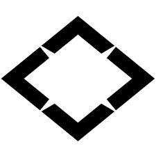 四つ山形菱紋
